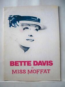 MISS MOFFAT Souvenir Program BETTE DAVIS / DORIAN HAREWOOD / NELL CARTER 1974