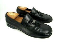 Prada Men's Shoe Toggle Tie Slip on Loafer  Leather Black Us Size 8
