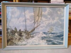"""Eight Bells"" framed Print by Montague Dawson"