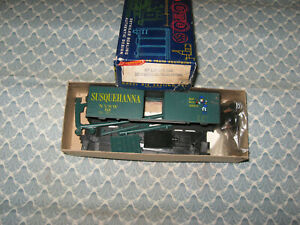 HO ROUNDHOUSE 40' NYSW SUSQUEHANNA BOXCAR KIT! ONLY 7.00!