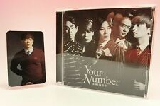 SHINee CD+Photo Card Japan Limited Edition Your Number Minho