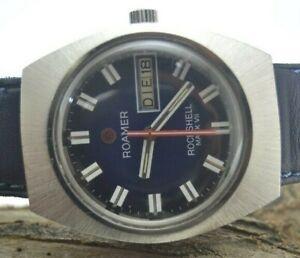 Vintage Roamer Rockshell Mark VII Mod 523-5120 615 Men Watch 1970-1979 Swiss