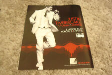 """Justin Timberlake of N'Sync 2007 Hbo ad for concert show """"Futuresex/LoveShow& #034;"""