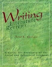 Writing Literature Reviews-1st Ed : A Guide for Students of the Social and Behav