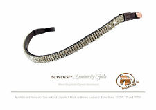 Clear/Blk Luminocity Wave Crystal Dressage Bridle Browband Size: Cob/Horse15.75""