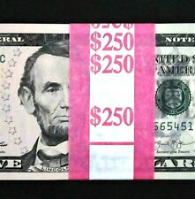 New Listing50 Five Dollar Bills New $5 Bundle Us Currency 1/2 Bep Pack Sequential Notes