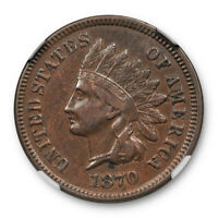 1870 1c Indian Head Cent NGC XF 40 Extra Fine Full Liberty Original Surfaces