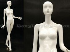 Female Fiberglass Mannequin High Glossy White Abstract Fashion Style #MZ-IVY3