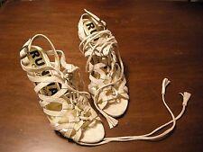 Scarpe donna come da foto - misura 39 - in pelle color beige - tacco cm 12