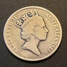 1987 Australian 5c Cent ERROR COIN 005#086