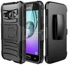 SAMSUNG GALAXY EXPRESS 3 LUNA FULL BLACK RUGGED HOLSTER 2PCS CASE SHOCK COVER