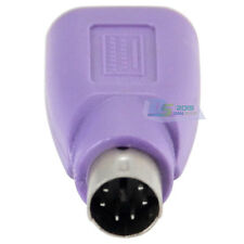 PS/2 PS2 Male to USB A Femael Keyboard Adapter Jack Converter Microsoft Purple