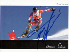 Franz Klammer (AUT) 1.OS Innsbruck 1976 Ski Alpin original signiert/signed !!