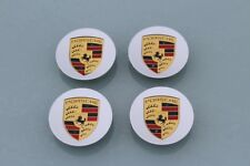 Porsche Wheel Centre Caps Silver Coloured Crest 911 Boxster, Cayman, Panamera X4