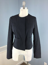Brooks Brothers navy Blue Blazer jacket S 4 Career Suiting Cotton Cropped EUC