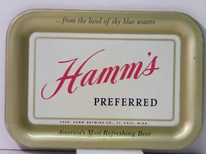 Vintage HAMM'S Preferred Beer Tray  Theo. Hamm Brewing, St. Paul, Minnesota