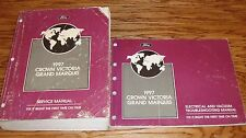 1997 Ford Crown Victoria Grand Marquis Service Shop Manual Wiring Diagram EVTM