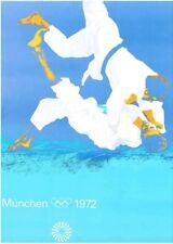 MUNICH 1972 OLYMPICS JUDO A0 poster 33x47 OTL AICHER art Vintage