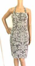 Luca Luca Grey Jacquard Print Halter Dress Size 44/US 10 -  EUC
