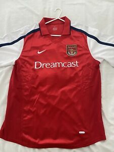 Retro Arsenal Home Dreamcast Shirt - 2000/01 - Bergkamp 10 - Nike - Large(XL)