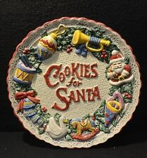 """Fitz and Floyd """"Cookies for Santa� 9"""" Plate 1995 with Original Box"""