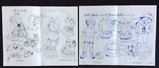Peace Dolls Series, Little Bruce & Eve Paper Dolls by Helen McCook, Mag. 1974
