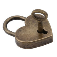 Vintage Mini Alloy Love Heart Shape Locks Luggage Bag Case Lock With Keys KV