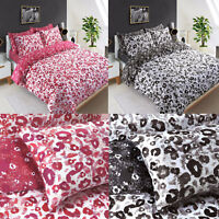 Leopard Print Duvet Cover Set King Size Double Single Super Animal Bedding New