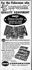1960 Print Ad Umco Fishing Tackle & Spin Boxes Made in Spring Park,MN
