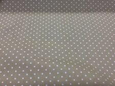 100% cotton polka dots fabric by the metre in Mushroom