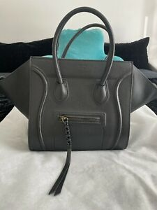 Celine Large Phantom Luggage Black Handbag