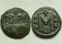 Rare ORIGINAL ancient BYZANTINE coin Reduced follis CONSTANTINE V 751AD Leo III