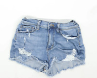 Womens Victorias Secret Blue Denim Shorts Size W26/