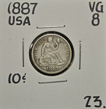 1887 United States 10 cents