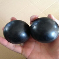 Black Ball Shaped Soft Squeeze Foam Ball Hand Wrist Exercise Stress Relief ToyPT