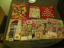 New ListingBig lot of Christmas Cross Stitching 8 Magazines and 3 Leaflets Patterns Holiday