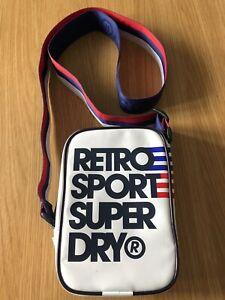 *Superdry* Retro Sport Logo Crossbody Bag, Red White And Blue Rare