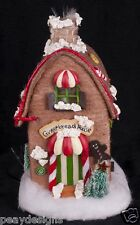 "Fiber Optic 12"" Gingerbread House Christmas Village Display SEE VIDEO"