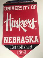 Lot Of 3 Nebraska Huskers Felt Banners Large 17 x 26 Premium University Alumni
