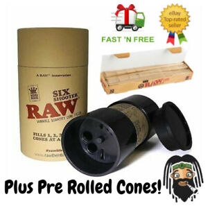 RAW Six Shooter Kingsize Multi Cone filler ~ Fills up to 6 pre-rolled cones! UK
