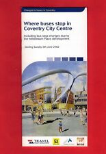 Bus Guide ~ Travel West Midlands - Changes to Bus Stops in Coventry - June 2002