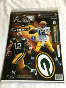 Fathead 17 Inch Sticker Wall Decal Set Green Bay Packers Aaron Rodgers FREESHIP