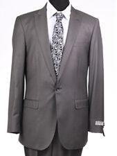 Men's Solid Plum Skinny Slim Fit Suit 1 Button 2 Piece by Tazio