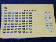 FDS DECALS N°26 ITALIAN CAR-PLATES PROVA 1/43 SCALE