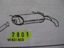 Marmitta posteriore Citroen AX art. 2801