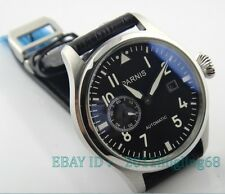 Parnis 47mm Big Pilot black dial sea gull movement Automatic Men's Watch