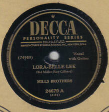 MILLS BROTHERS - Lora-Belle Lee / Out Of Love 78 rpm disc