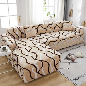 Elastic Sofa Cover sofas Chaise Covers For Sectional Couch Corner Sofa Slipcover
