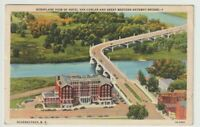 1941 Postmarked Postcard Hotel Van Curler and Bridge Schenectady New York NY