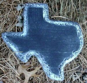 "Texas state plaque mold garden casting plaster concrete  10"" x 10"" x 1"""